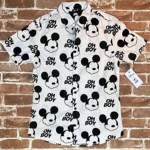 Disney by Neff Mickey Mouse Button Down Shirt